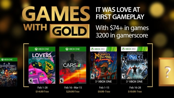 February 2017 Games with Gold for Xbox One & Xbox 360